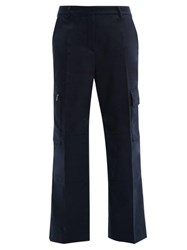 Acne Studios Patya Patch Pocket Twill Trousers Navy