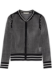 Jonathan Simkhai Open Knit Cardigan Black