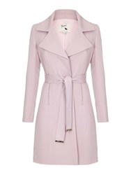 Yumi Wrap Trench Coat Pink