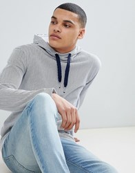 Tom Tailor Hoodie With Stripe In White