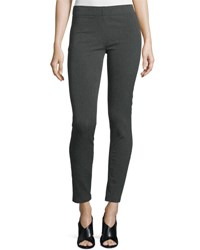 Joseph Herringbone Stretch Leggings Dark Gray Dark Grey