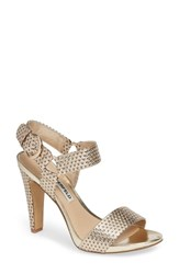Karl Lagerfeld Cieone Sandal Gold Patent Leather