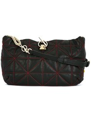 Sonia Rykiel Geometric Pattern Crossbody Bag Black