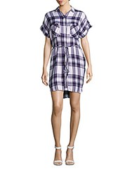 Rails Haley Plaid Shirtdress White Navy