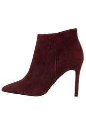 Buffalo High Heeled Ankle Boots Burgundy Dark Red