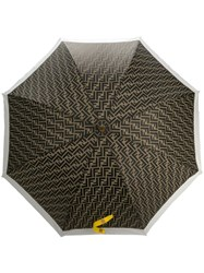 Fendi Ff Motif Umbrella Green