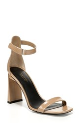Via Spiga Women's Faxon Ankle Strap Sandal Desert Leather