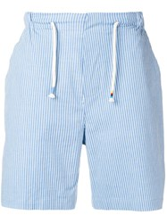The Silted Company Pinstripe Shorts Blue