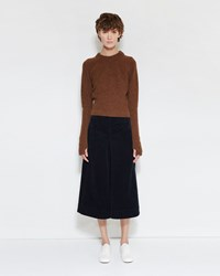Christophe Lemaire Flared Skirt Midnight Blue