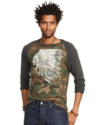 Denim And Supply Ralph Lauren Camouflage Cotton Baseball T Shirt