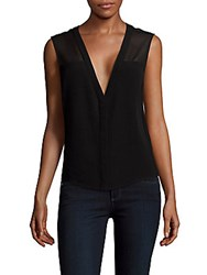 Sandro Evonne Solid Sleeveless Top Black