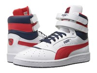 Puma Sky Ii Hi Fg White High Risk Red Peacoat Men's Basketball Shoes