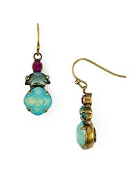 Sorrelli Gem Pop Drop Earrings Multi Gold