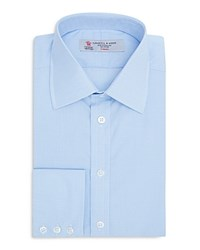 Turnbull And Asser Micro Check Slim Fit Dress Shirt Light Blue