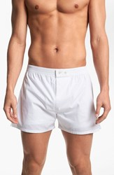 Nordstrom Men's Big And Tall Men's Shop Classic Fit Cotton Boxers White