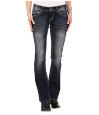 Rock And Roll Cowgirl Rival Low Rise In Dark Vintage W6 2449 Dark Vintage Women's Jeans Navy