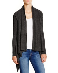 C By Bloomingdale's Cashmere Basic Open Cardigan Dark Charcoal