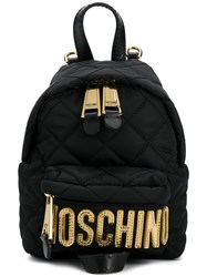 Moschino Small Quilted Backpack Black