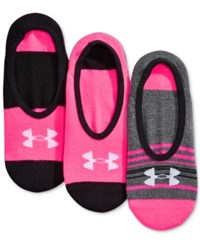 Under Armour Women's Lo Lo Extra Low Liner Socks 3 Pk. Harmony Assorted
