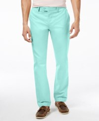 Tommy Hilfiger Men's Suarez Custom Fit Dress Pants Aqua Sky