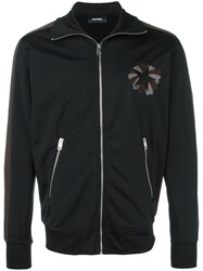 Diesel Star Embroidered Jacket Black