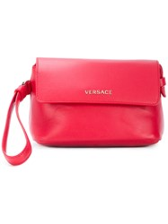 Versace Small Wristlet Clutch Bag Leather Red