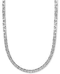 Macy's Men's Sterling Silver Necklace 24' 8Mm Marina Chain