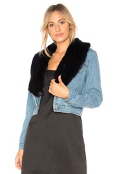 Bb Dakota Mia Faux Fur Jacket Light Blue