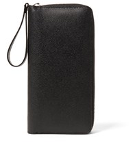 Valextra All In One Pebble Grain Leather Document Holder Black