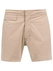 Amir Slama Mid Rise Swim Shorts Nude And Neutrals