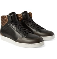 Want Les Essentiels Lloyd Colour Block Quilted Leather Sneakers