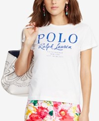 Polo Ralph Lauren Flagship Cotton T Shirt White Pink