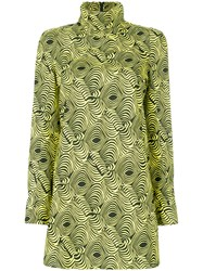 Marni Printed Tunic Blouse Cotton Yellow Orange