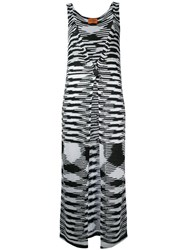 Missoni Long Knitted Vest Women Polyester Acetate 38 Black