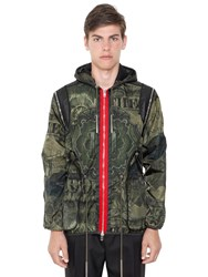 Givenchy Camo Dollar Print Techno Satin Jacket
