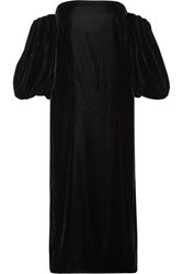 Elizabeth And James Vanna Off The Shoulder Velvet Midi Dress Black