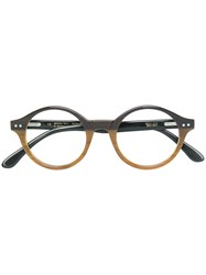 Ralph Vaessen Querijn Round Glasses Brown