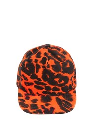 R 13 Embroidered Cotton Canvas Baseball Hat Orange Leo