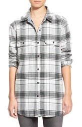 Women's Treasure And Bond Plaid Flannel Tunic