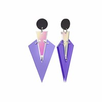 Toolally Art Deco Drops Iridescent Black Pink Purple