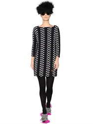 Gianluca Capannolo Checkered Jacquard Knit Dress
