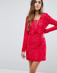 The Jetset Diaries Zamira Mini Dress Crimson Red