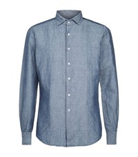 Slowear Chambray Shirt Male Blue