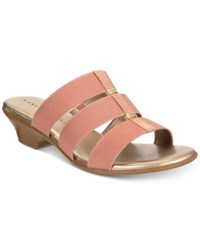 Karen Scott Erinn Slip On Sandals Created For Macy's Women's Shoes Rose Gold