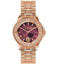 Versus Sh7290016 Tokyo Crystal Rose Gold Plated Stainless Steel Watch
