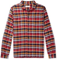 Ymc Checked Cotton Flannel Shirt Red