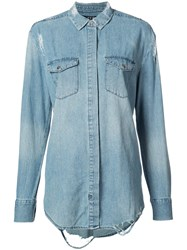 Ksubi Denim Shirt Women Cotton M Blue