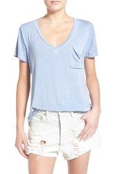 Women's Socialite V Neck Pocket Tee Chambray