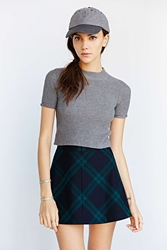 Cooperative High Neck Cropped Sweater Grey
