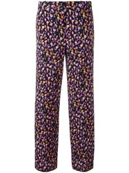Versace Flower Thrift Trousers Black